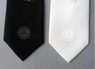 丸に剣片喰・冠婚葬祭用ネクタイ